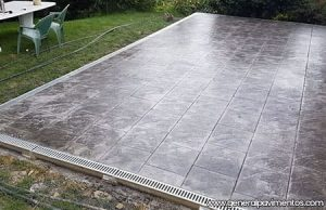 Hormigón impreso para terrazas