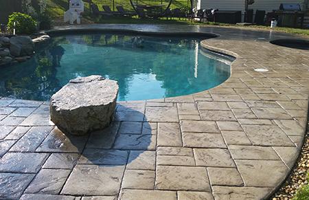 Hormigon impreso para piscinas